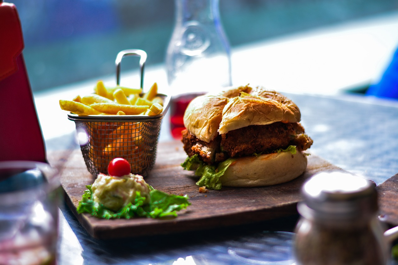 Chicken Burger, Fries and Coleslaw | Foodie Travel Influencers