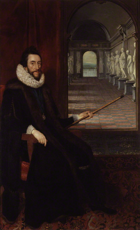 Thomas Howard, 14th Earl of Arundel, 4th Earl of Surrey and 1st Earl of Norfolk, by Daniel Mytens, circa 1618 - NPG 5292 - © National Portrait Gallery, London