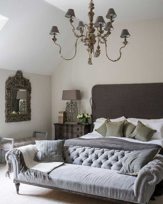 Luxurious Neutral Bedroom Design Ideas with Gray and Cream