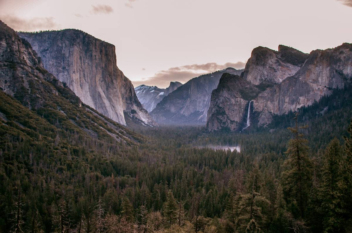 A view of Half Dome and El Capitan in Yosemite, the most iconic of California national parks