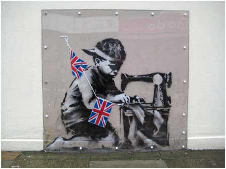 Banksy Slave Labour Graffiti - Wood Green, London