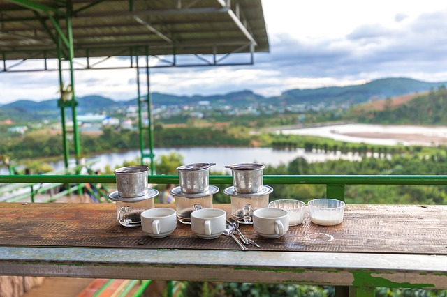 coffee shop in Da Lat: food tour in Vietnam