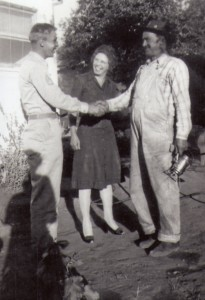 Mel with his mom and dad before going overseas