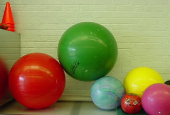 Physioballs are available in various sizes