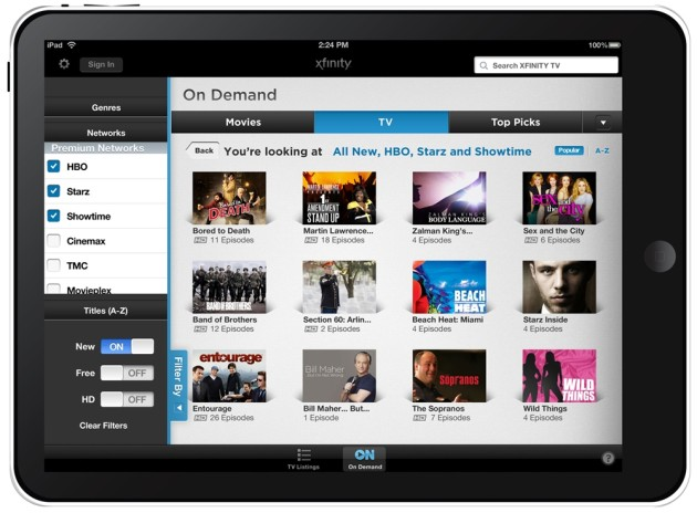 Comcast Xfinity TV Go For iOS and Android to Offer 35 Live TV Channels