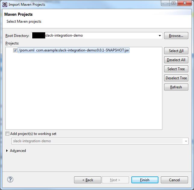 Developer tutorials: Spring Boot Slack integration