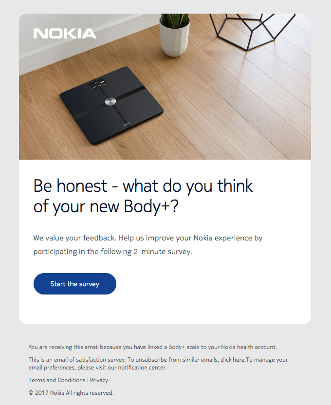 Nokia survey email template