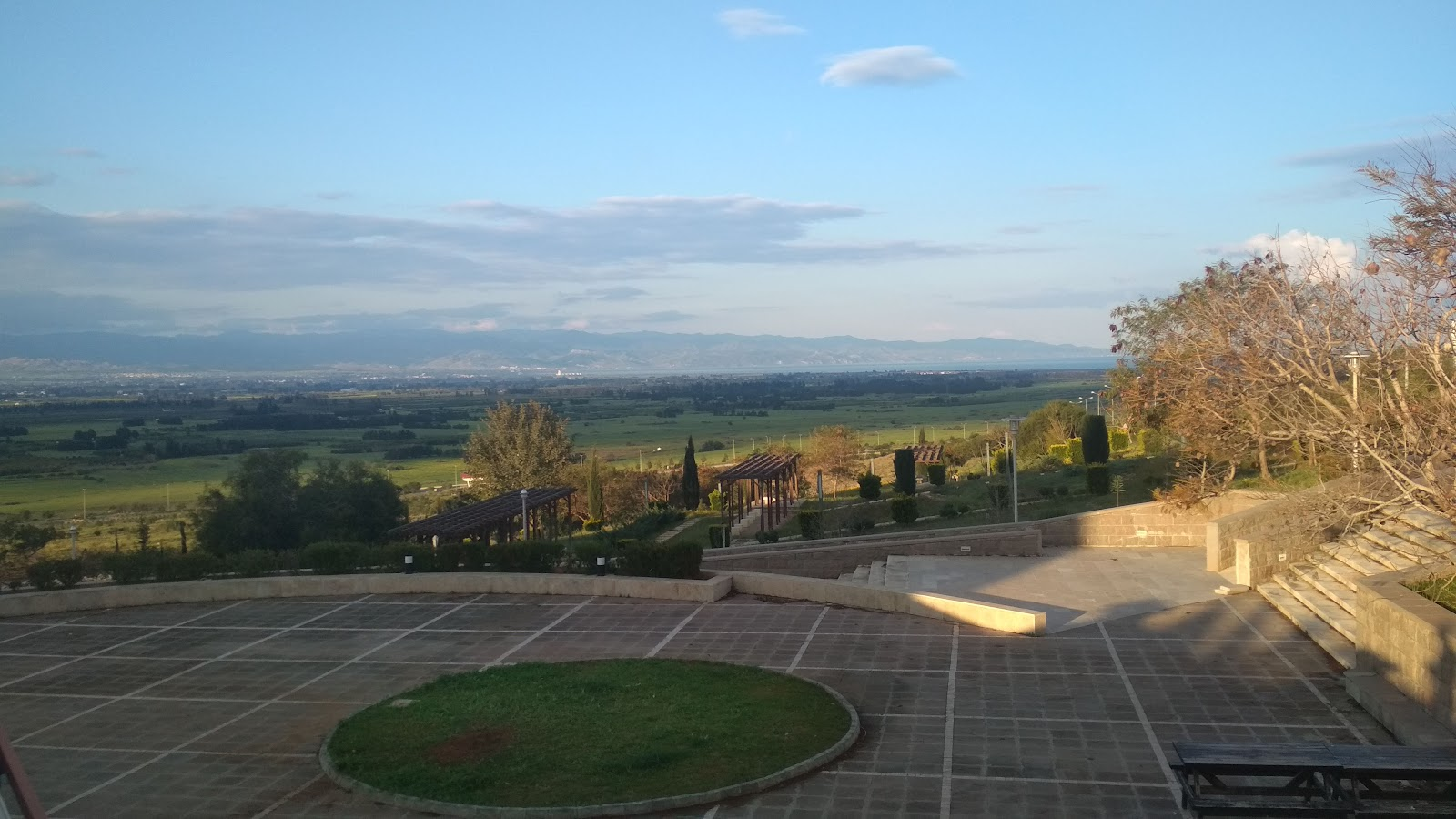 A picture of the view that students have of Güzelyurt from the campus.