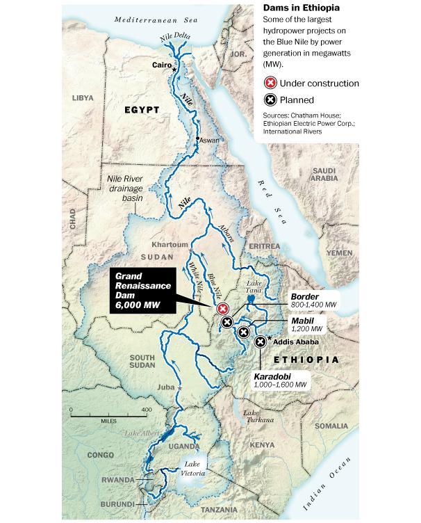 Egyptian Chronicles Cairo Universitys Report On Ethiopias Great - Map of egypt ethiopia