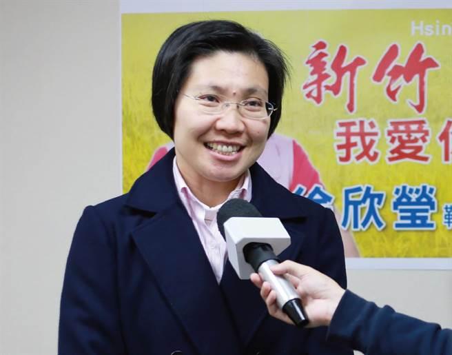 民國黨主席徐欣瑩獲不分藍綠與中間選民的共同支持,在竹縣長選戰中實力堅強。圖/民國黨提供