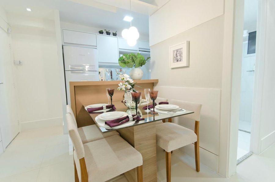 Resultado de imagem para decorar uma sala pequena mesa