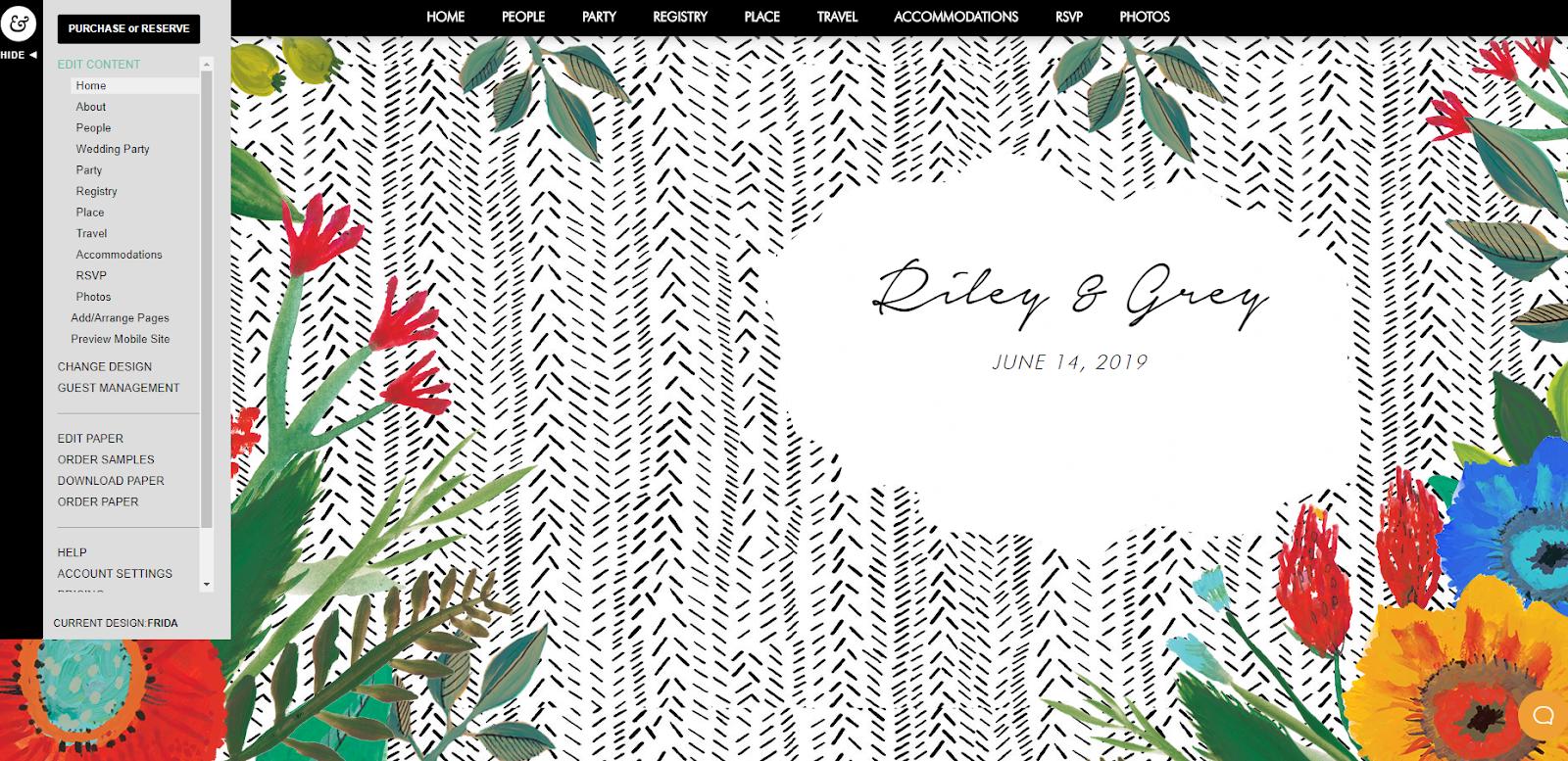 webbabyshower riley and grey baby shower website