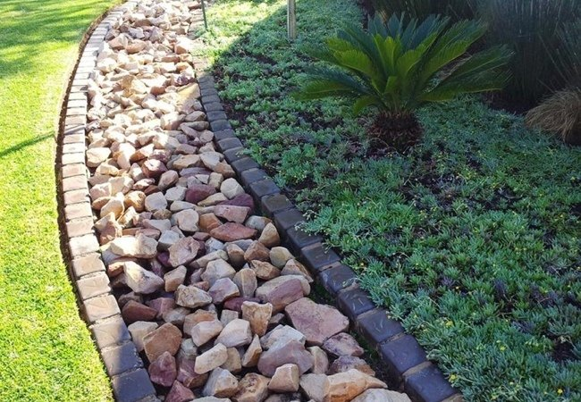 An example of a french drain