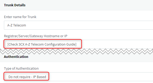 Configuring Your Chinese Sip Trunk Provider A Z Telecom With 3cx