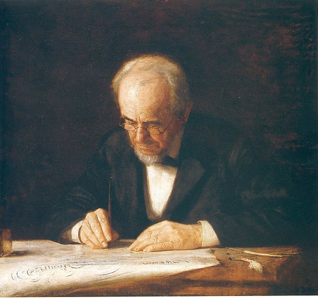 The Writing Master by Thomas Eakins