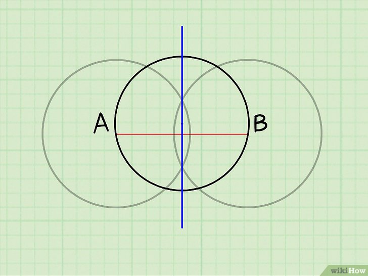иллюстрация прямой в точках пересечения