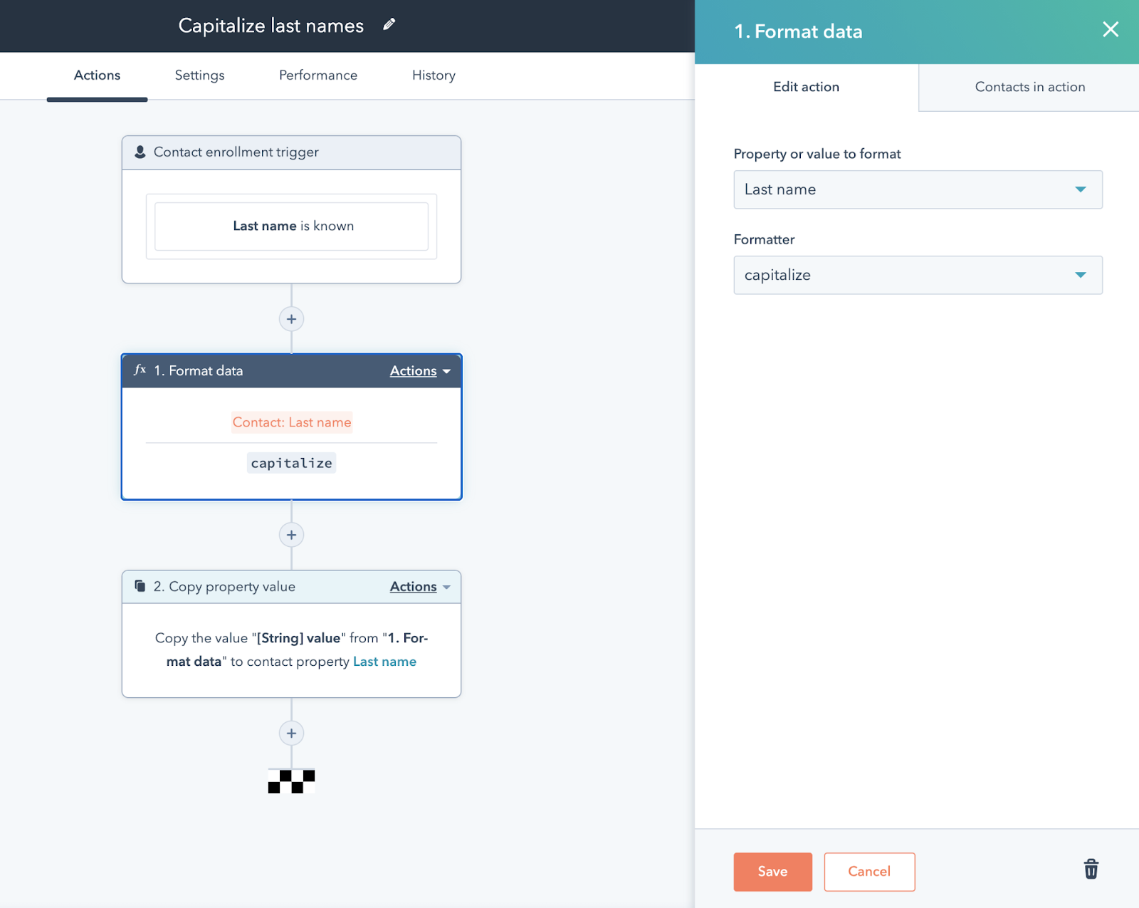 Data quality automation in HubSpot workflows