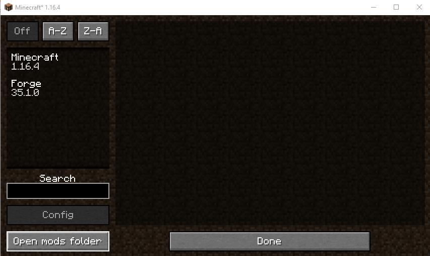 Open mods folder