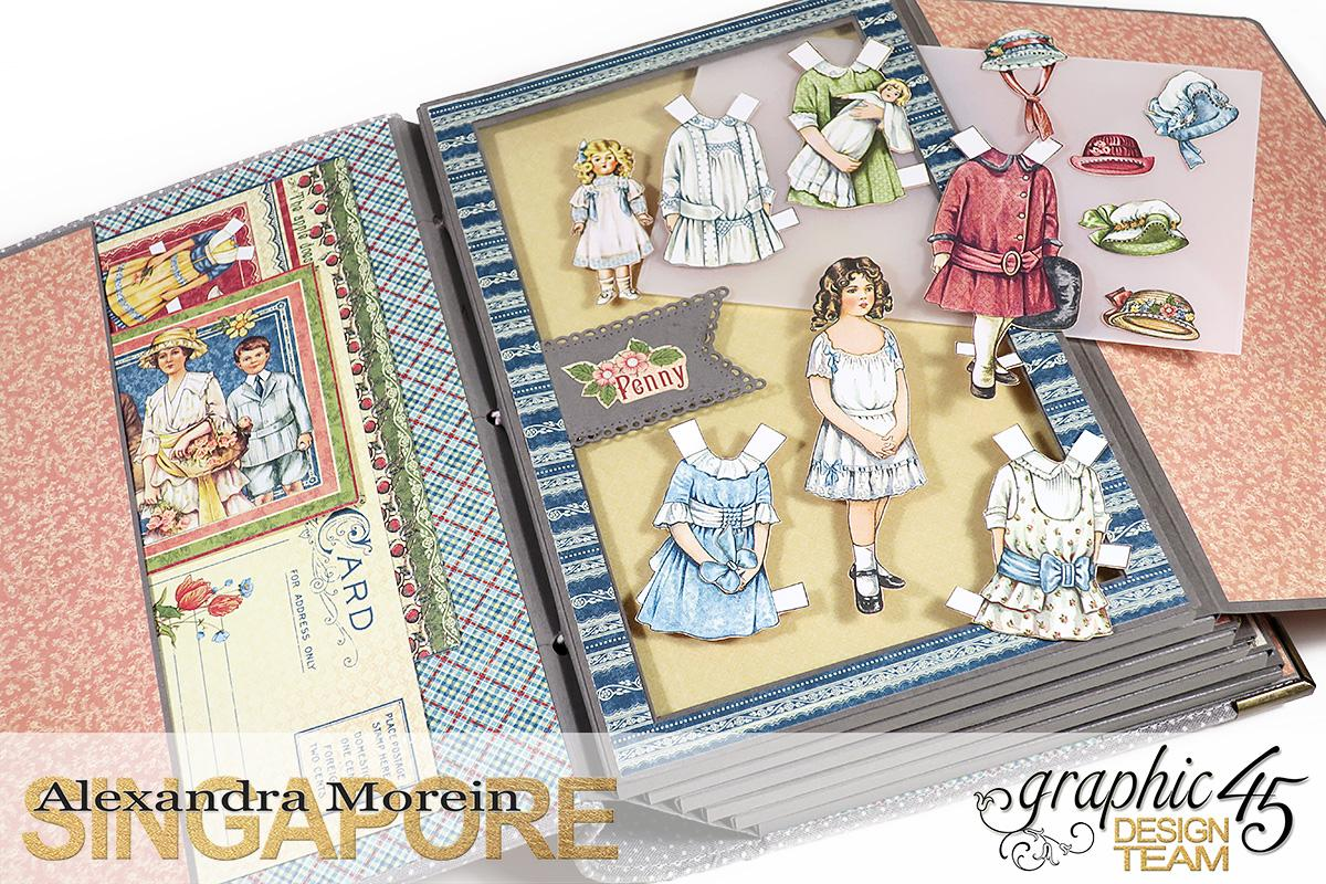 Paper Doll Play Set and Mini Album, Penny's Family Paper Doll, Tutorial by Alexandra Morein, Product by Graphic 45, Photo 8.jpg
