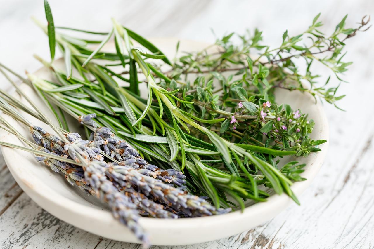 Rosemary Essential Oil: rosemary sprigs
