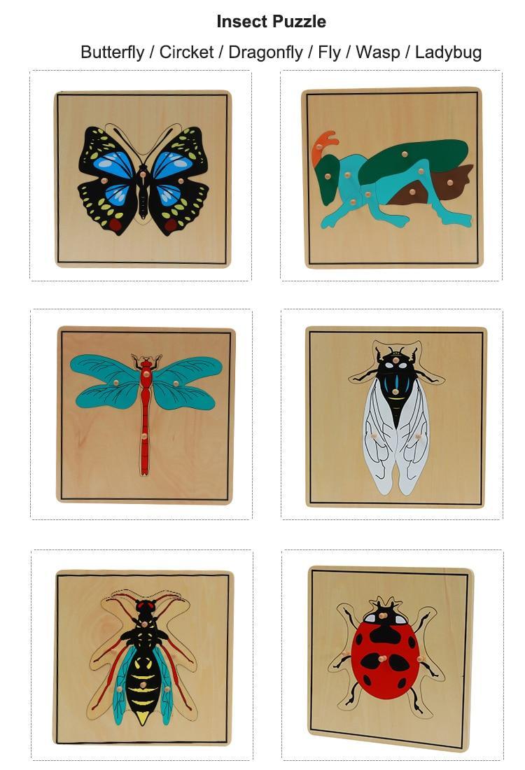 puzzle insectes montessori puzzle en bois activité
