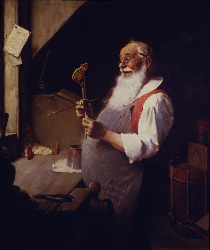 Santa's Workshop Norman Rockwell