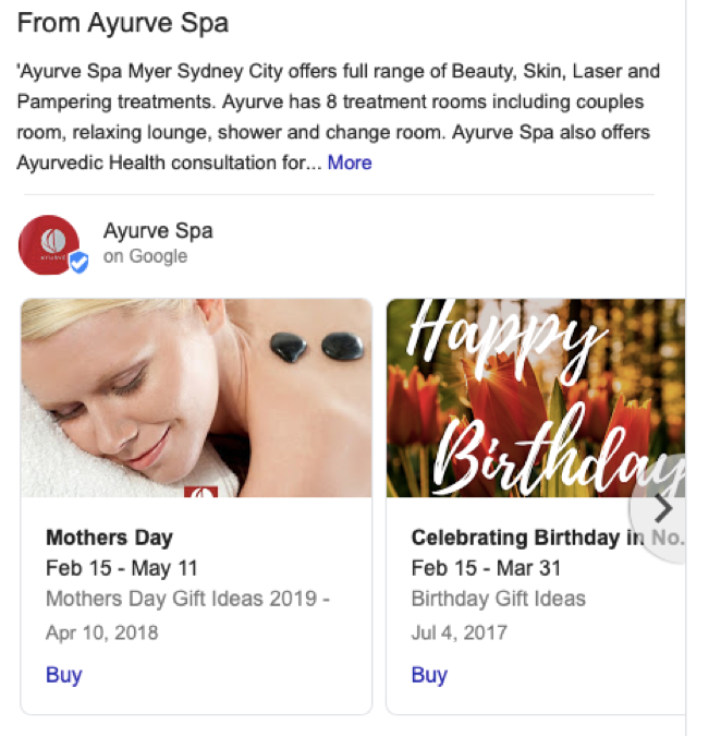 Google My Business - post example 3