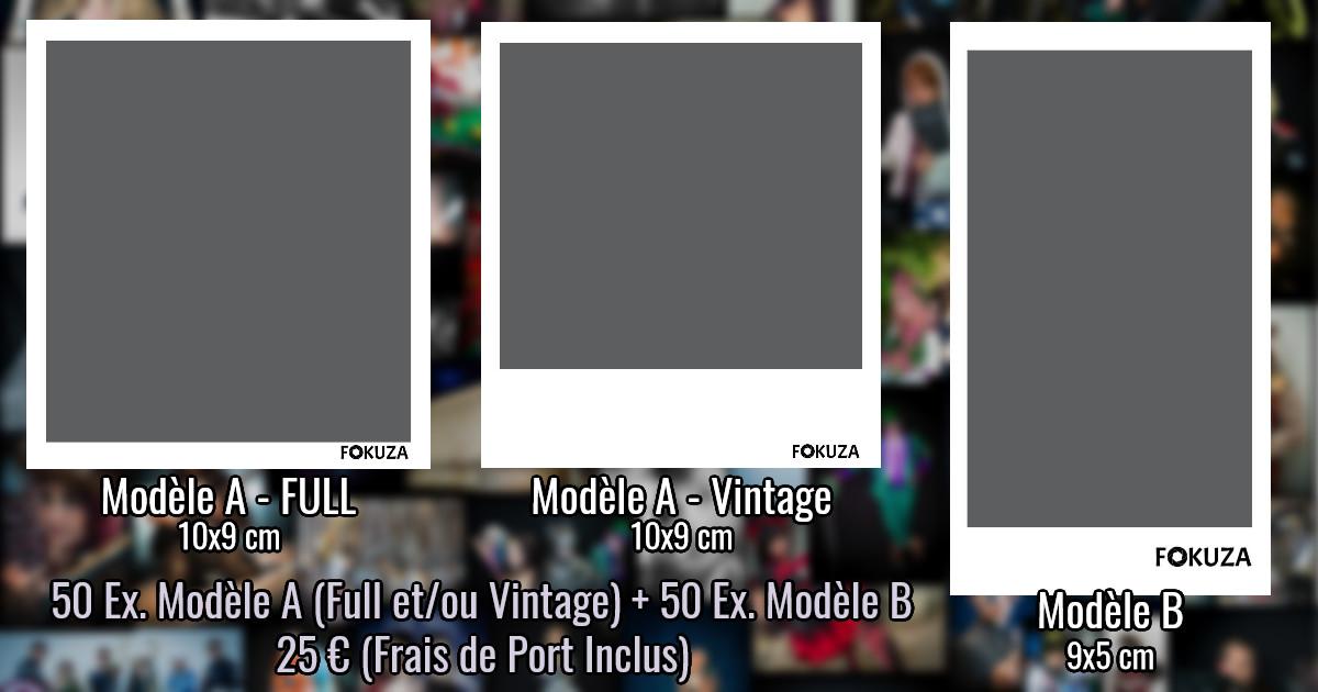 Détail de l'offre : 100 Impressions dont 50 Modèle A (Full et/ou Vintage) et 50 Modèle B