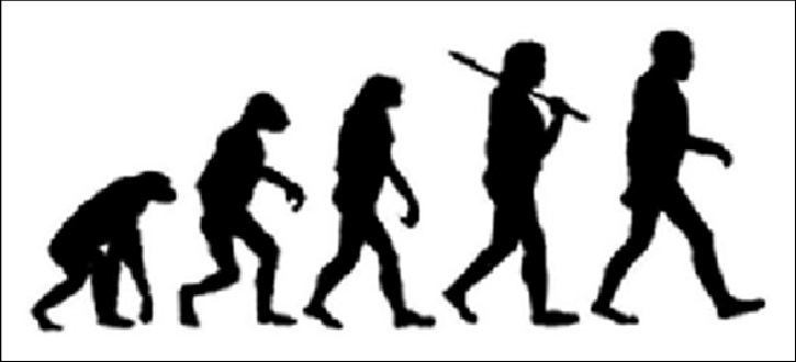 ascent of man graphic