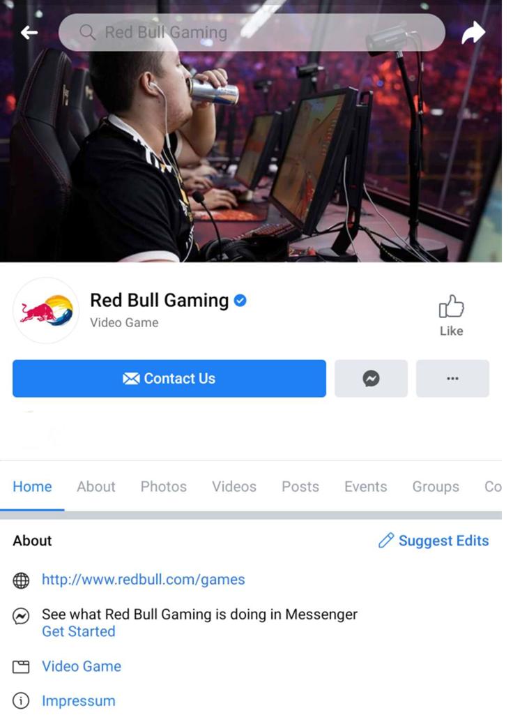 red bull gaming facebook community gezielte inhaltsförderung
