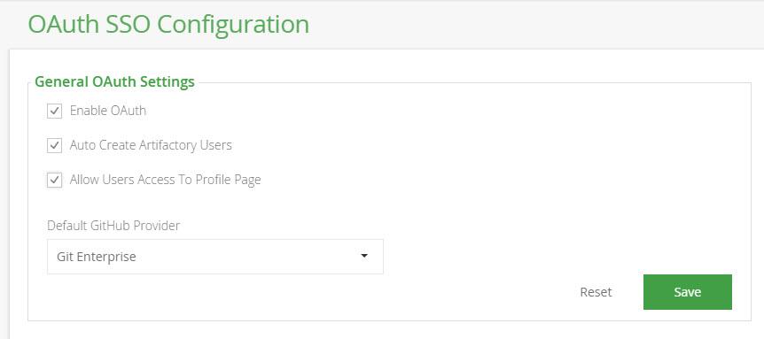 OAuth SSO Configuration