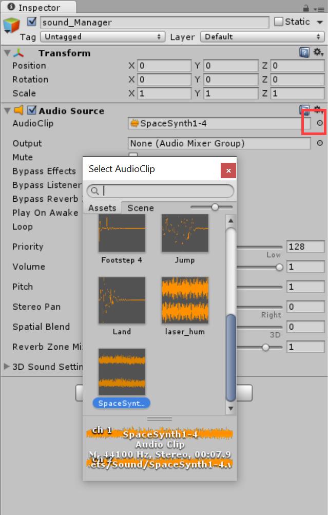 SelectAudioClip