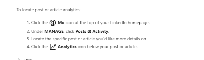 Steps to access your LinkedIn analytics stats