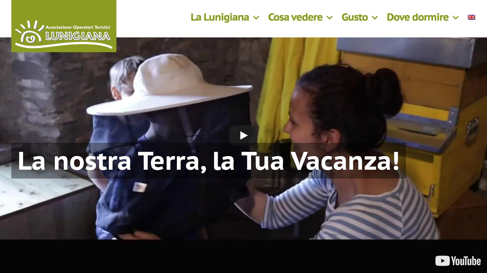 Lunigiana website made with webnode
