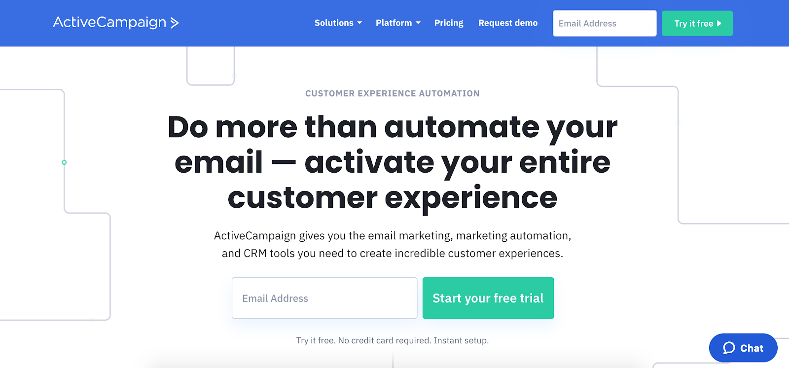 ActiveCampaign marketing automation tool homepage