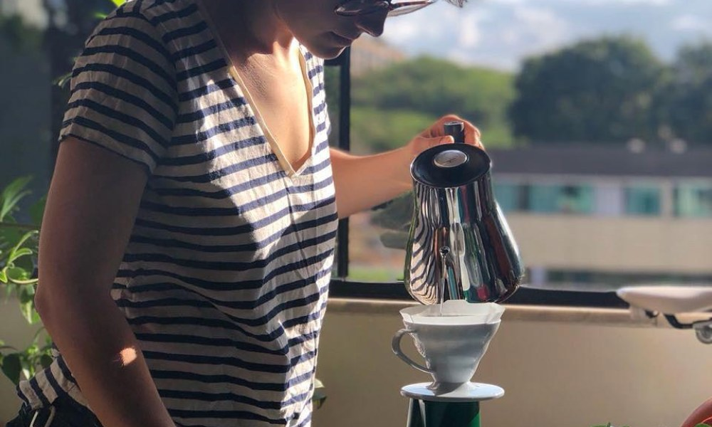 pour over warm brew coffee