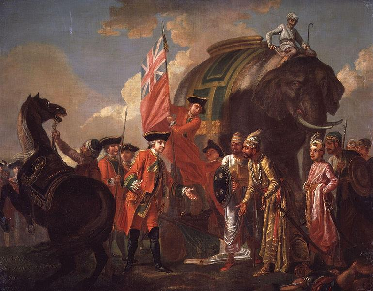 File:Robert Clive and Mir Jafar after the Battle of Plassey, 1757 by Francis Hayman.jpg