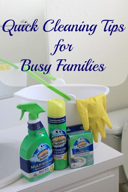Quick Cleaning Tips for Busy Families #SaveWithBubbles #ad