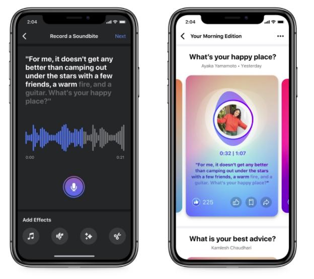 Os clipes de áudio do Facebook são uma função nova e ainda não disponível em nenhuma outra rede social.