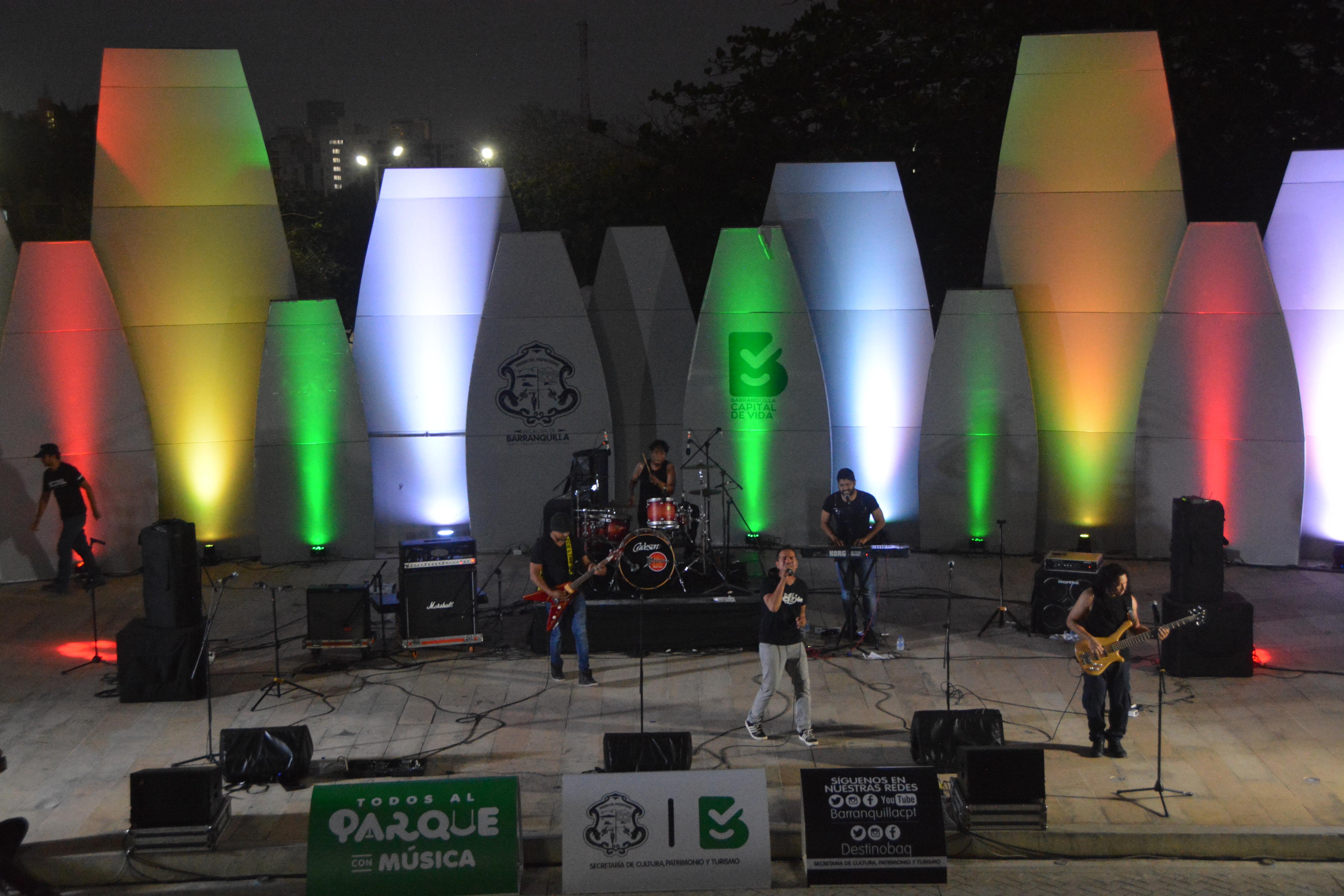 Viernes de Rock en la concha acústica del parque Sagrado Corazón
