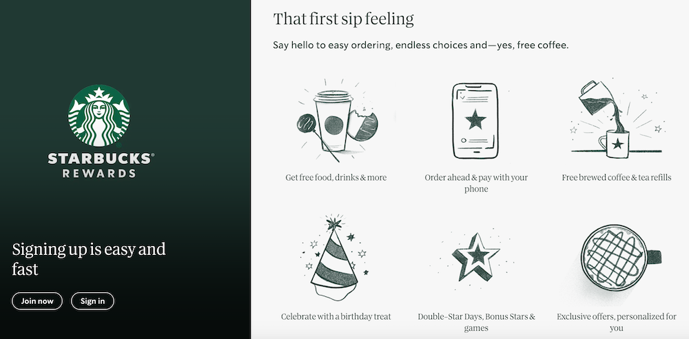 Starbucks loyalty program