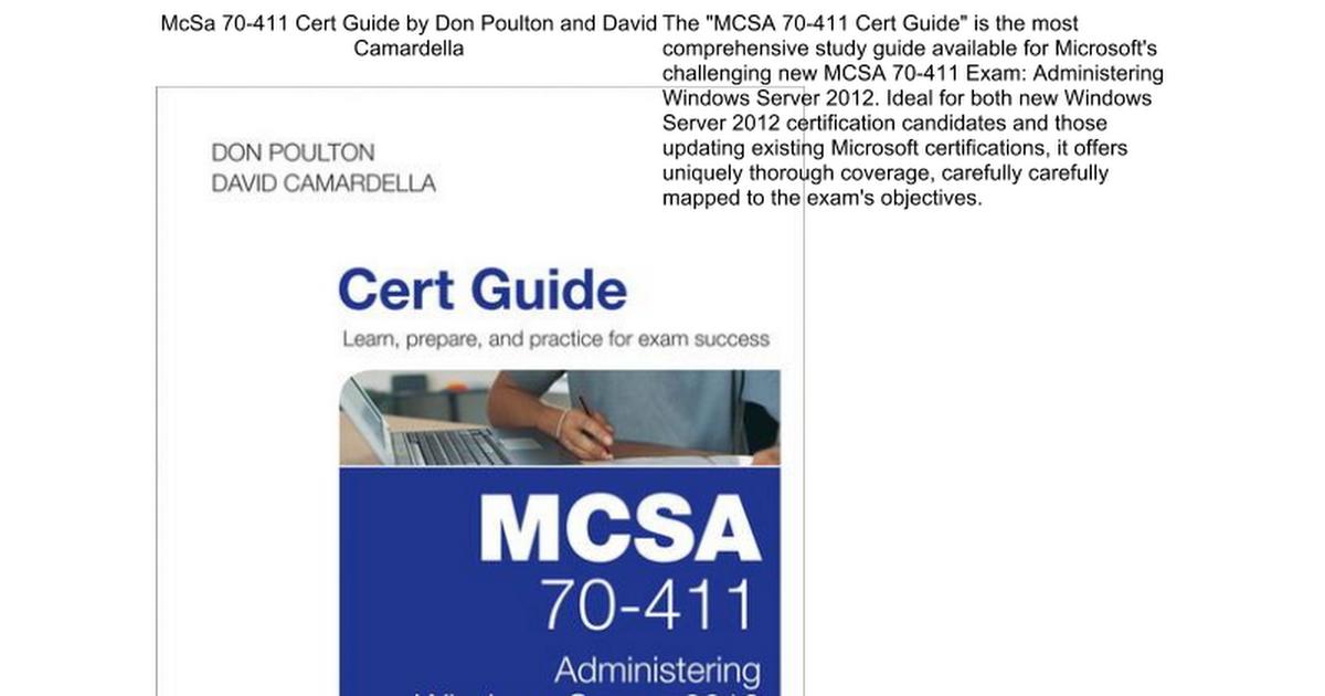 Mcsa 70 411 Cert Guide Google Docs