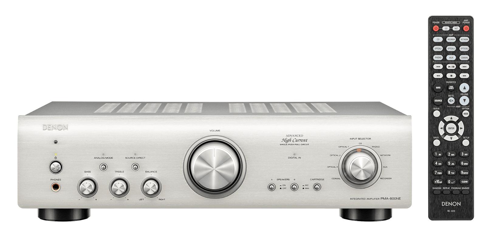Amply Denon 800NE, chơi nhạc hay, tích hợp DAC 24bit/192kHz