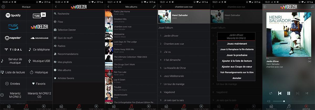 L'application Heos intègre nativement plusieurs services de musique en ligne, notamment Deezer.