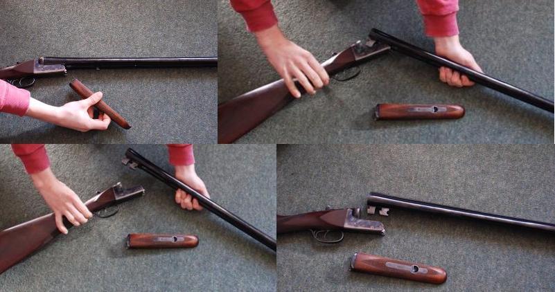 dismantle a shotgun