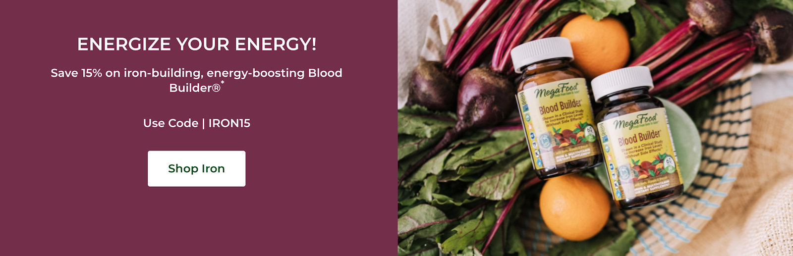 MegaFood - Energy Boosting Blood Builder | Influencer Partnership Programs for Wellness & Fitness Influencers