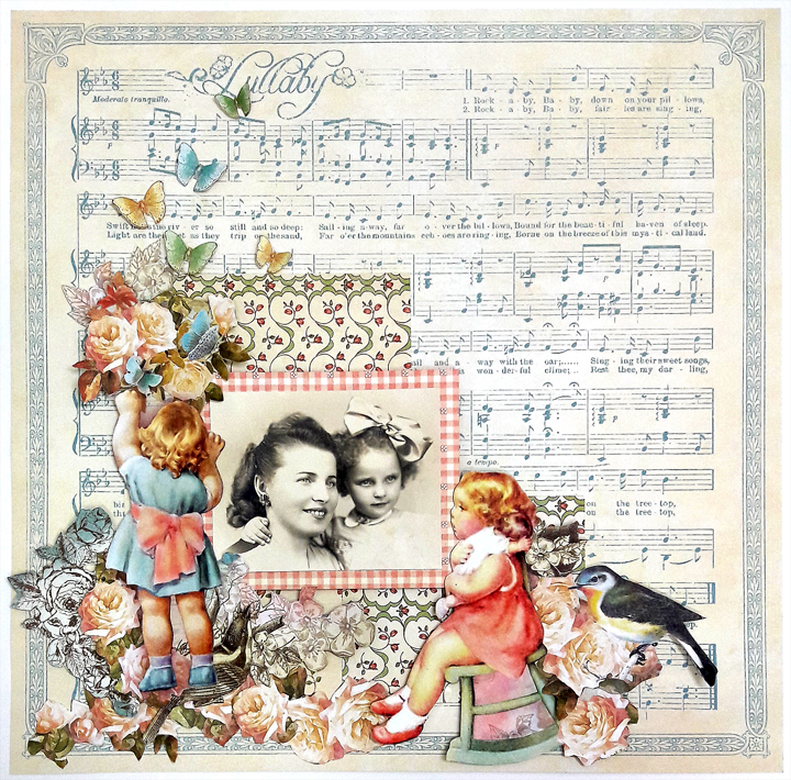 Mother and Daughter Layout, by Einat Kessler, Little Darlings, Product by Graphic 45, photo 4.jpg