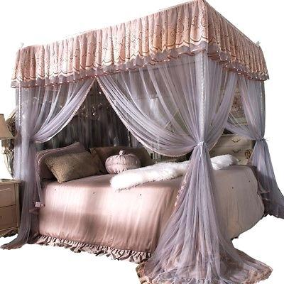 How To D Canopy Beds Step By, Queen Size Canopy Bed With Curtains