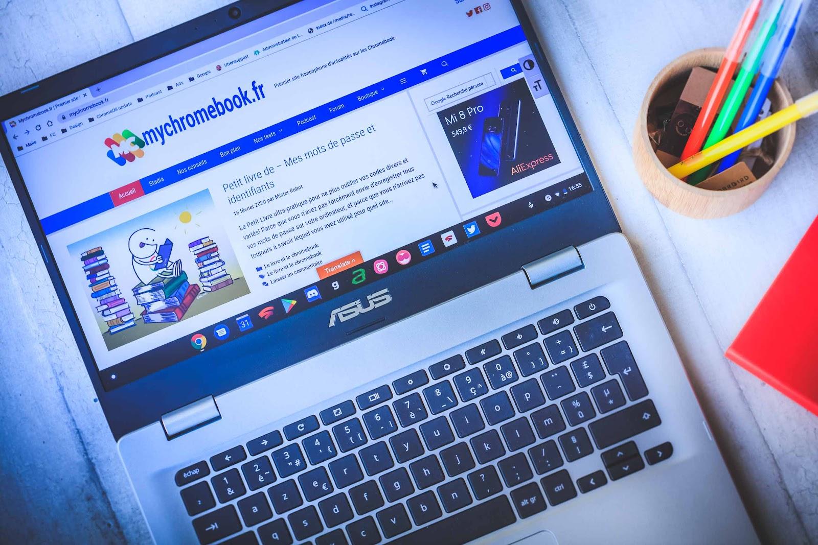 Test et avis du Chromebook Asus C423 NA