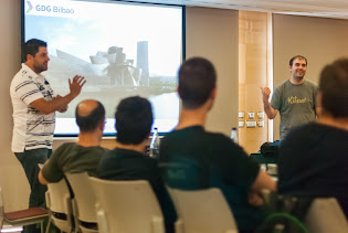 Aritz y Manrique presentando el GDG Bilbao